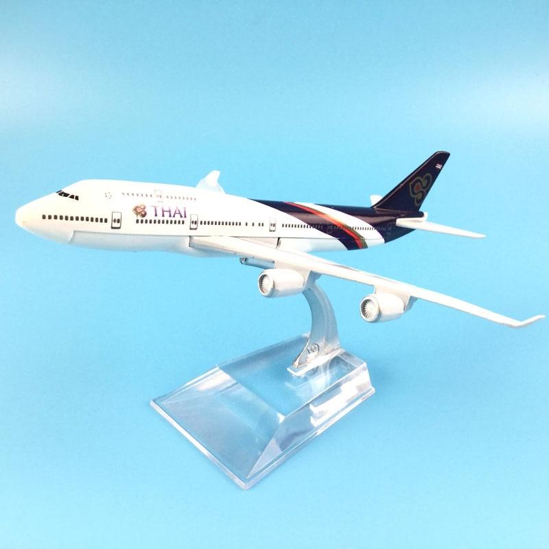 16cm Plane Model Airplane Model Thai Airways Boeing 747 Aircraft Model 1:400 Diecast Metal Airplanes Plane Toy
