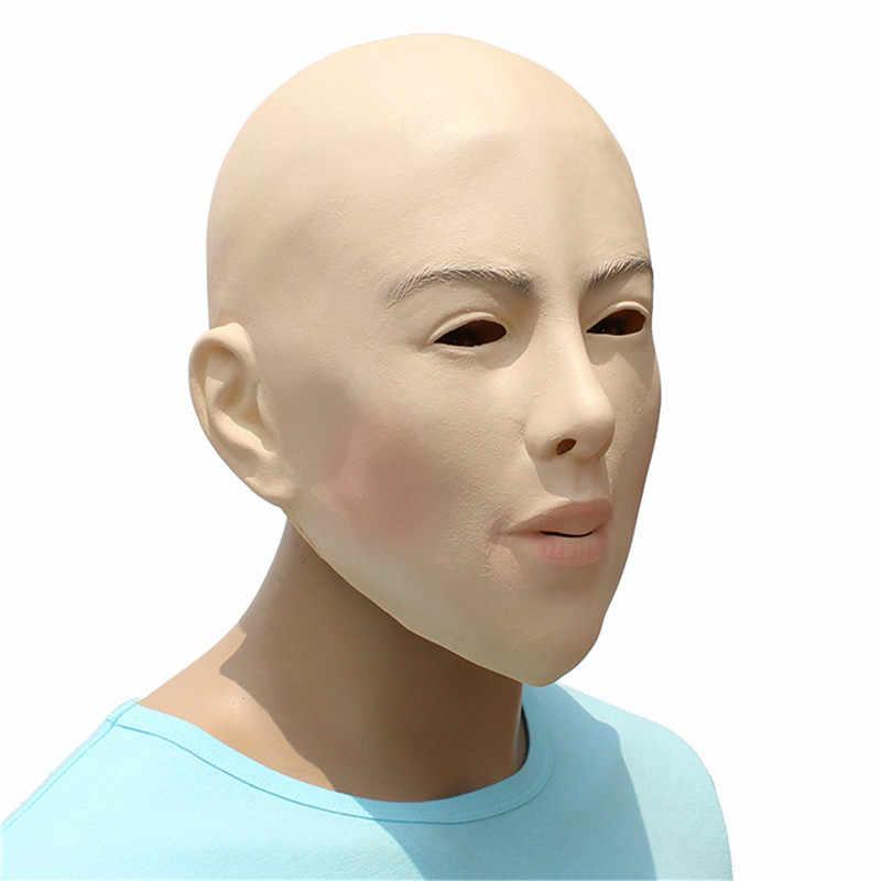 Реалистичная Женский Маска для Хэллоуина человека Женская маскарадная латексная вечерние маска сексуальная девушка женскую одежду костюм; Маска для косплея