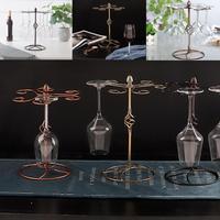 Glass Cup Holder Hanging Wine Glass Bronze, Gold, Light Gold Racks Hanger Accessories