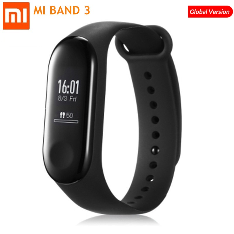 Xiaomi MI Band 3 Smart Tracker Heart Rate Monitoring Sports Watch Wristband 20 Days Standby Support System Upgrade