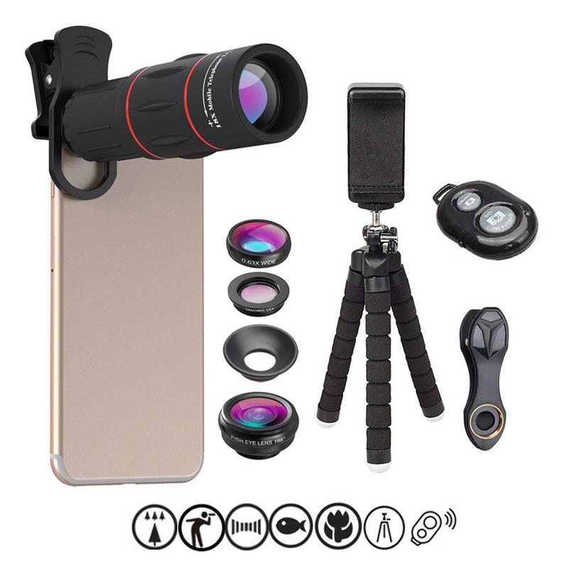 Phone Photography Kit Flexible Phone Tripod Remote Shutter