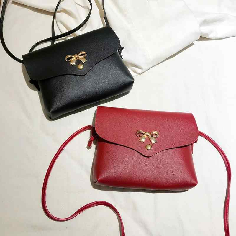 Detail Feedback Questions about Women Bowknot Shoulder Messenger Bag Girls  Mini PU Leather Casual Crossbody Sling Bags Portable Female Bag on  Aliexpress.com ... aeea4b1ddc19