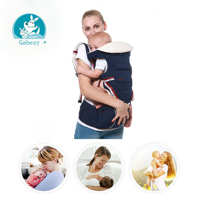 Gabesy Baby Carrier 9 In 1 Hipseat Ergonomic 360 Mochila Newborn Infantil Sling Backpack Kangaroos Prevent O-type Leg Sling Wrap