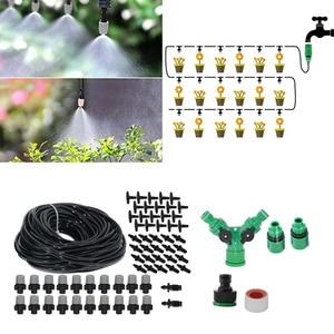 Image 2 - 높은 품질 스프레이 노즐 야외 파티오 정원 온실 관개 스프레이 키트 세트 정원 도구에 대 한 20M Misting 냉각 시스템