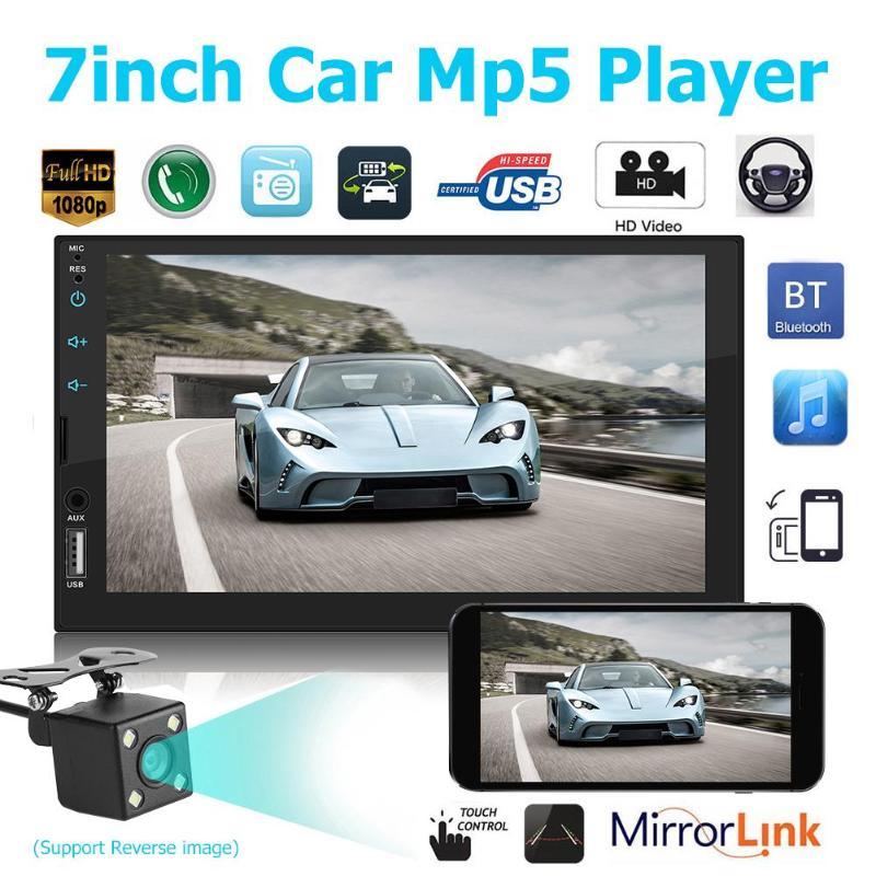 Il Lettore King MP5 da 7 Pollici DIN MP5 Supporta la connessione di Immagine del Sistema Android iOS Radio Stereo Touch Screen Bluetooth