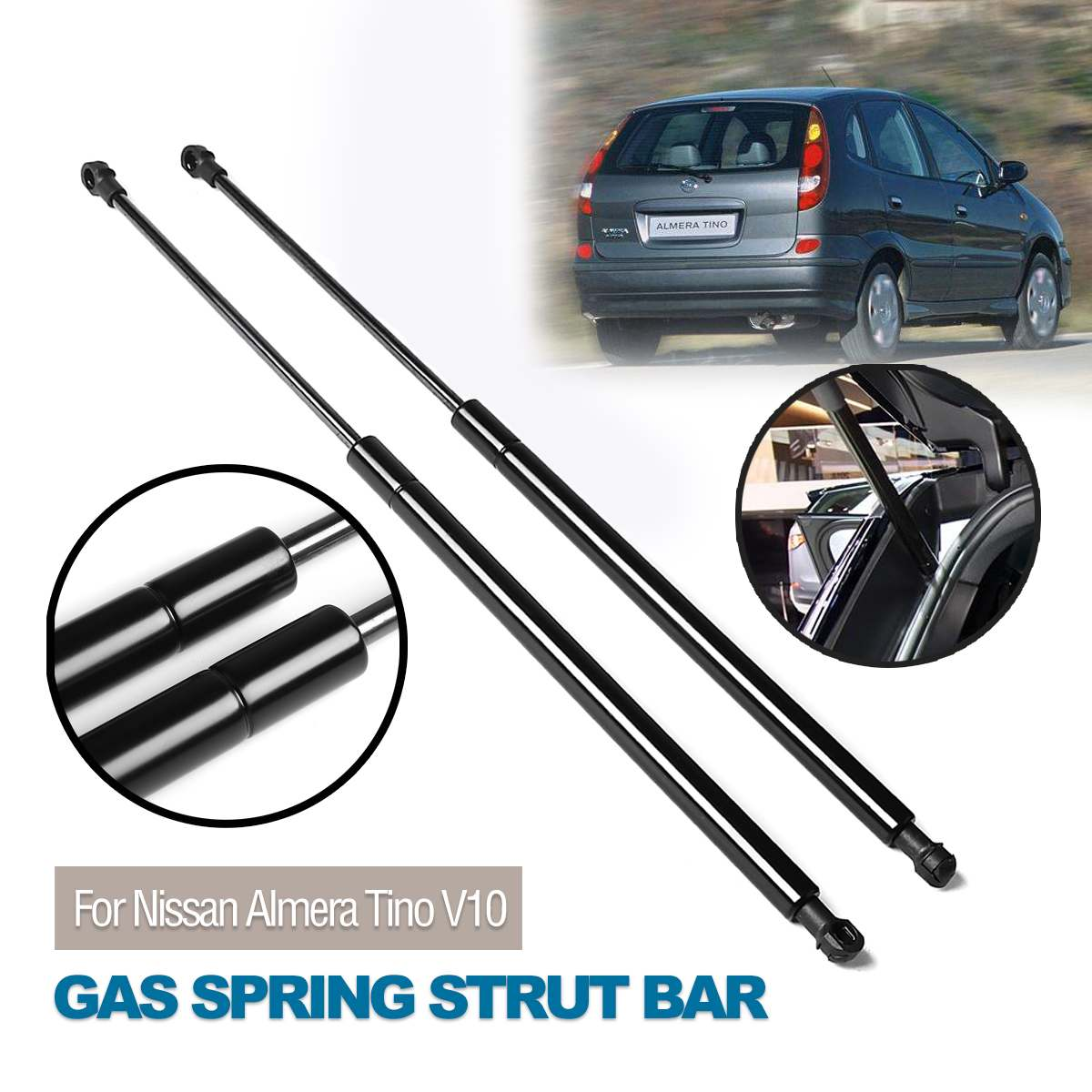 2x Rear Tailgate Hatch Boot Support Gas Struts Springs for Toyota 1999-2005