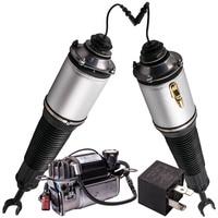 For Audi A8 4E 10 12 cylinder Air Suspension Front Pair + Compressor Pump 2002 2010 4E0616040AB 4E0616039