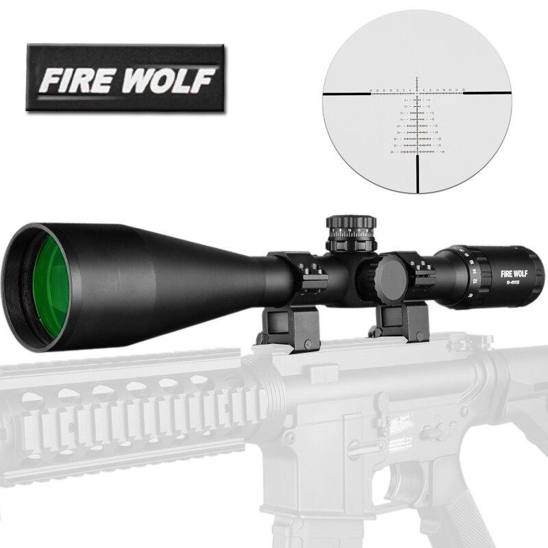 10-40X56 lunette de visée portée de chasse lunette de visée tactique en verre réticule vue de fusil pour Sniper Airsoft Gun chasse