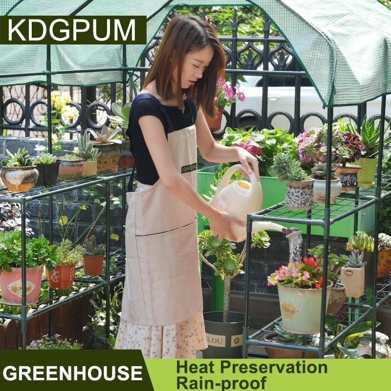 휴대용 플라스틱 pvc pe 온실 커버 정원 온실 식물 야채 성장 텐트 열 보존 비 증거 그린 하우스-에서그로잉 텐트부터 홈 & 가든 의  그룹 2