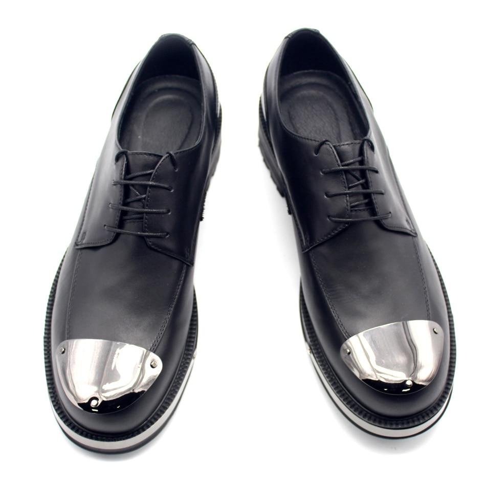 Kleid Mode Casual Echtem Leder Top Aus Business Designer Formale Mann Up Lace Handarbeit High Derby Schuhe Brogue Fr1F6Zq