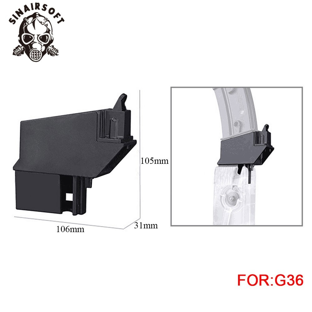 Fast BB Speedloader Adapter Magazine Fit G36 Airsoft Gun Converter For Paintball Shooting Hunting Accessories Free Shipping
