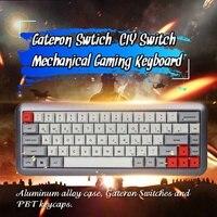 S SKYEE 68 Key переключатель gateron краситель суб клавишные колпачки pbt Hot swappable Механическая игровая клавиатура RGB подсветка