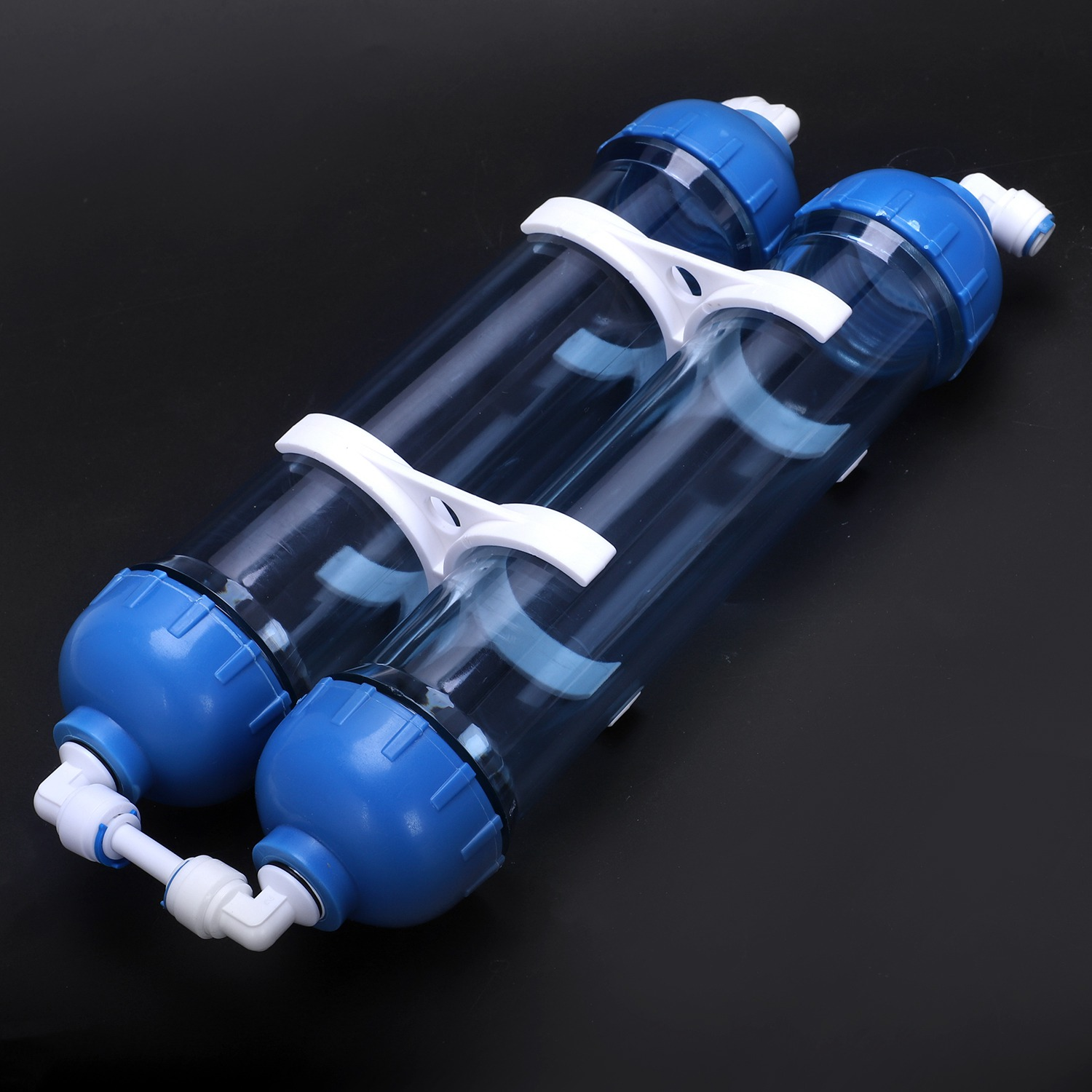 Image 3 - Water Filter 2Pcs T33 Cartridge Housing Diy T33 Shell Filter Bottle 4Pcs Fittings Water Purifier For Reverse Osmosis SystemWater Filter Parts   -