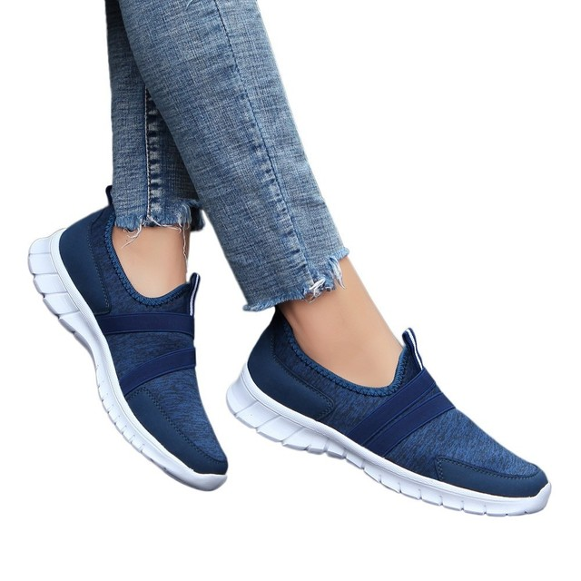 35f9a437f Zapatillas Mujer Verano Zapatos Mujer Tacon Fashion Shoes Mesh Soft Round  Head Bottom Set Foot Casual Shoes Lazy Shoes 2019  7