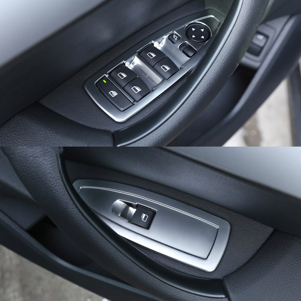 Car ABS door Window Lift Switch button cover Frame Trim For <font><b>BMW</b></font> <font><b>X1</b></font> F48 2016 2017 <font><b>2018</b></font> 2019 X2 F47 <font><b>2018</b></font> <font><b>Accessories</b></font> Car Styling image