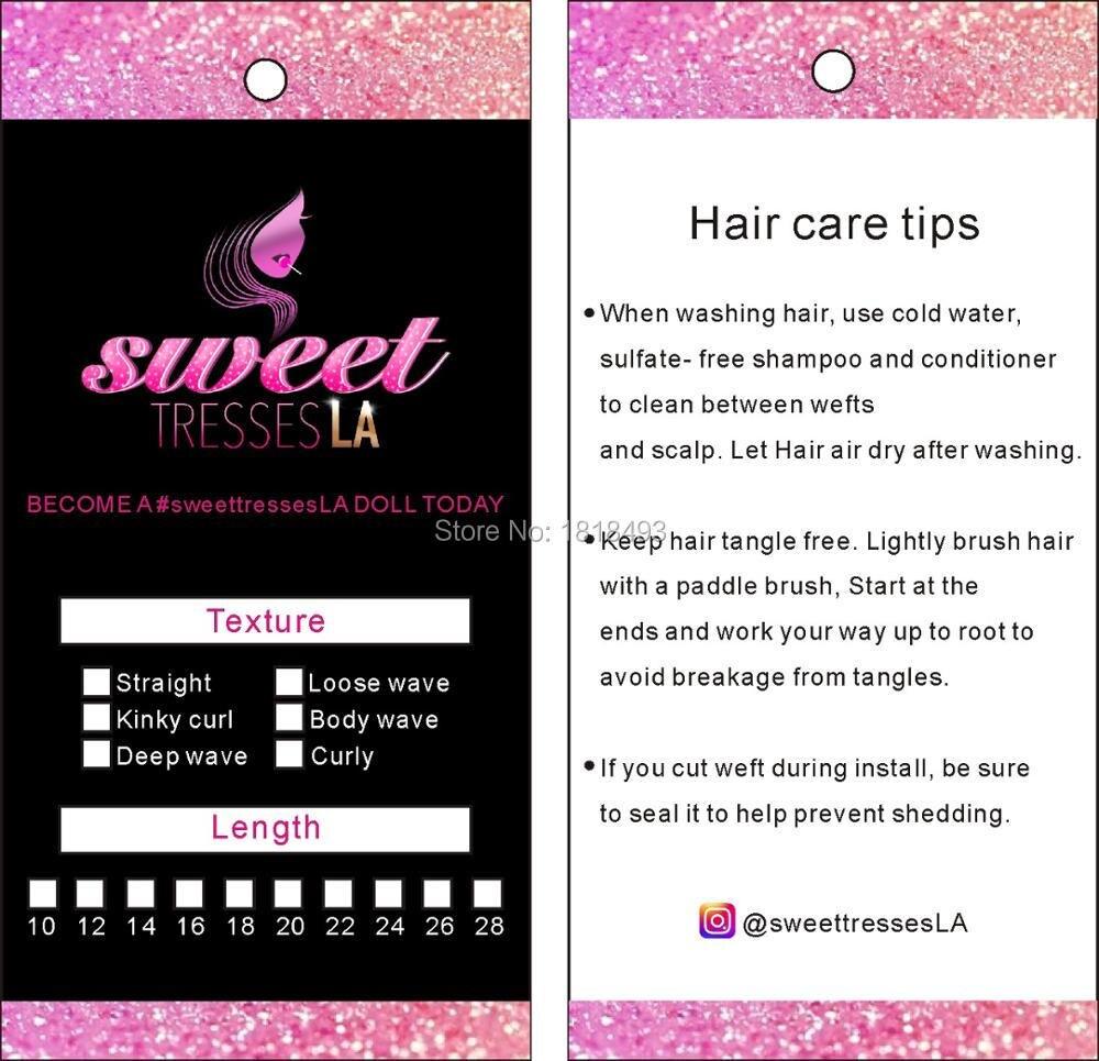 free shipping customized women wig tag hair hang tag/hair products