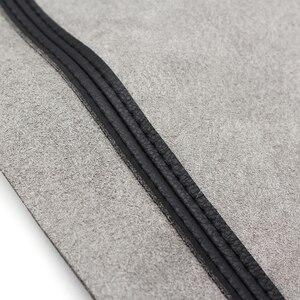 Image 4 - 4 pçs estilo do carro interior microfibra couro porta braço painel capa adesivo guarnição para peugeot 301 2014 2015 2016 2017 2018
