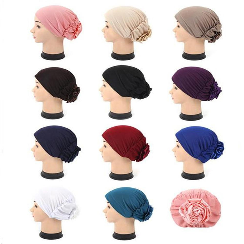 Superior Quality Women Ladies Under Scarf Hijab Tube Bonnet Bone Cap Band chemo