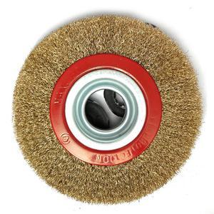 Image 4 - HLZS 1Pcs 8 Polegada 200mm aço fio liso roda escova com 10pcs adaptador anéis para banco moedor polonês