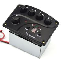 Belcat ELAN 4TN Guitar Pickup 4Band EQ with FND Tuner 4 Band EQ Preamp Chromatic Tuner
