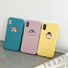 Crayon Shinchan phone Case For iphone X XR XS Max Case For iphone 6 6S 7 8 plus Cover japan cartoon soft TPU Capa Coque Fundas цена и фото