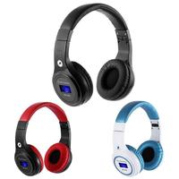 BS N75 Wireless Bluetooth Headset Headphone with LCD Screen FM TF Card Slot audifono bluetooth For PC mobile phone Mp3