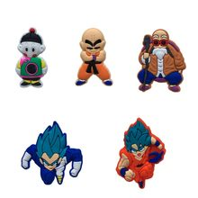 1pcs Dragon Ball Z Cartoon PVC Brooches Hot Movie Pins Brooches Badges Clothes/Hats Accessory Backpack Decor Kid Gift(China)