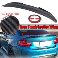 Real Carbon Fiber PSM Style Car Trunk Spoiler Wing For BMW F22 M235i F87 M2 2014 2018 Car Rear Lip Wing Spoiler