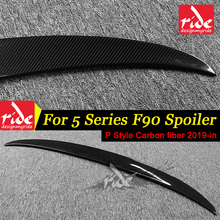 F90 Rear Trunk Spoiler Lip Wing Fit For BMW 5-Series M5 P Style Carbon Fiber Tail Decoration 2019-in