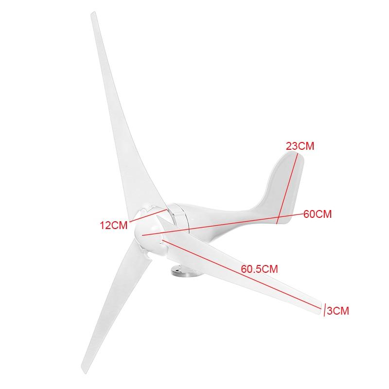 1200/1600 W vent pour Turbine Generator3/5 pales de vent Option contrôleur de vent cadeau adapté pour la maison ou le Camping + accessoires de montage - 5