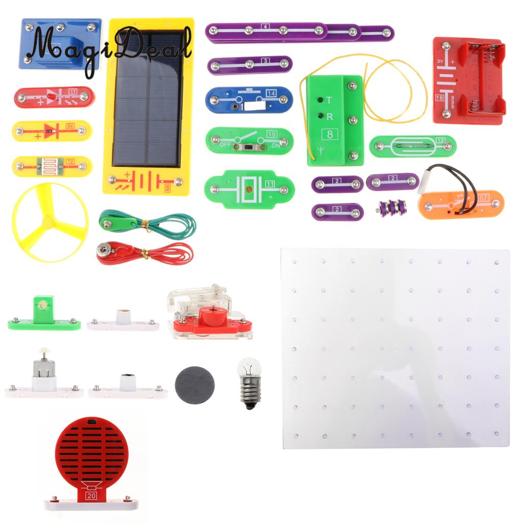 1000 in 1 38 Pieces Electronics Discovery Learning Kits DIY Physical Lab Basic Circuit Experiment Science
