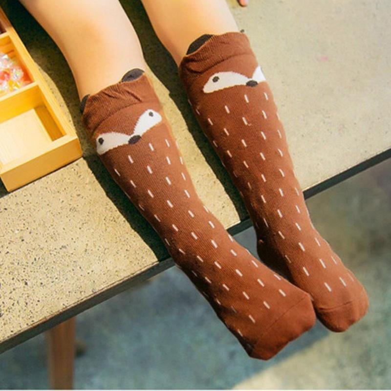 Childrens Socks Cotton Striped Toddler in Tube Cute Baby Non-Slip Socks 6-Packs