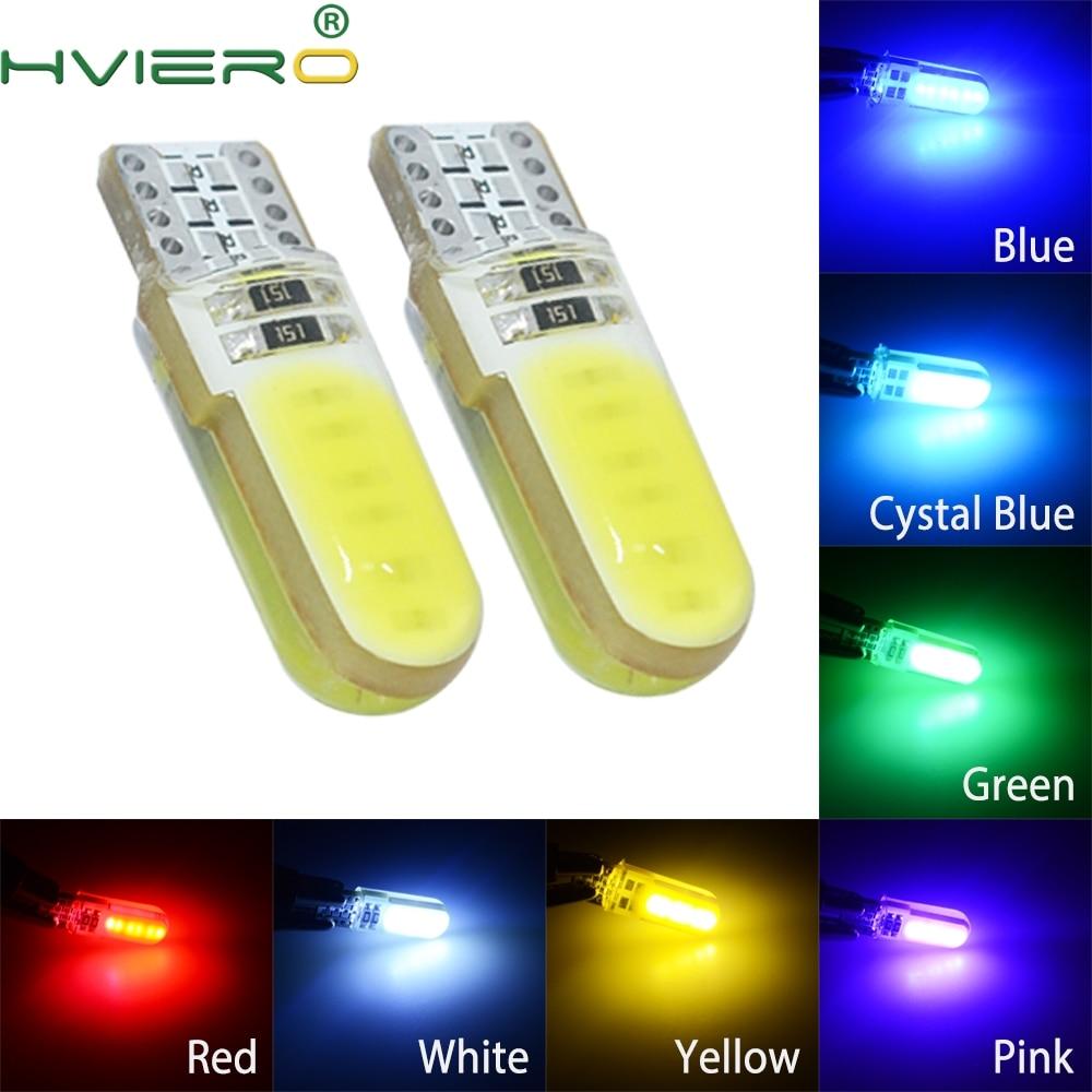 194 2825 wy5w cob sílica gel luz cunha à prova dwaterproof água luz marcador automático lâmpada de leitura cúpula lâmpadas estacionamento automático 12 v led automático