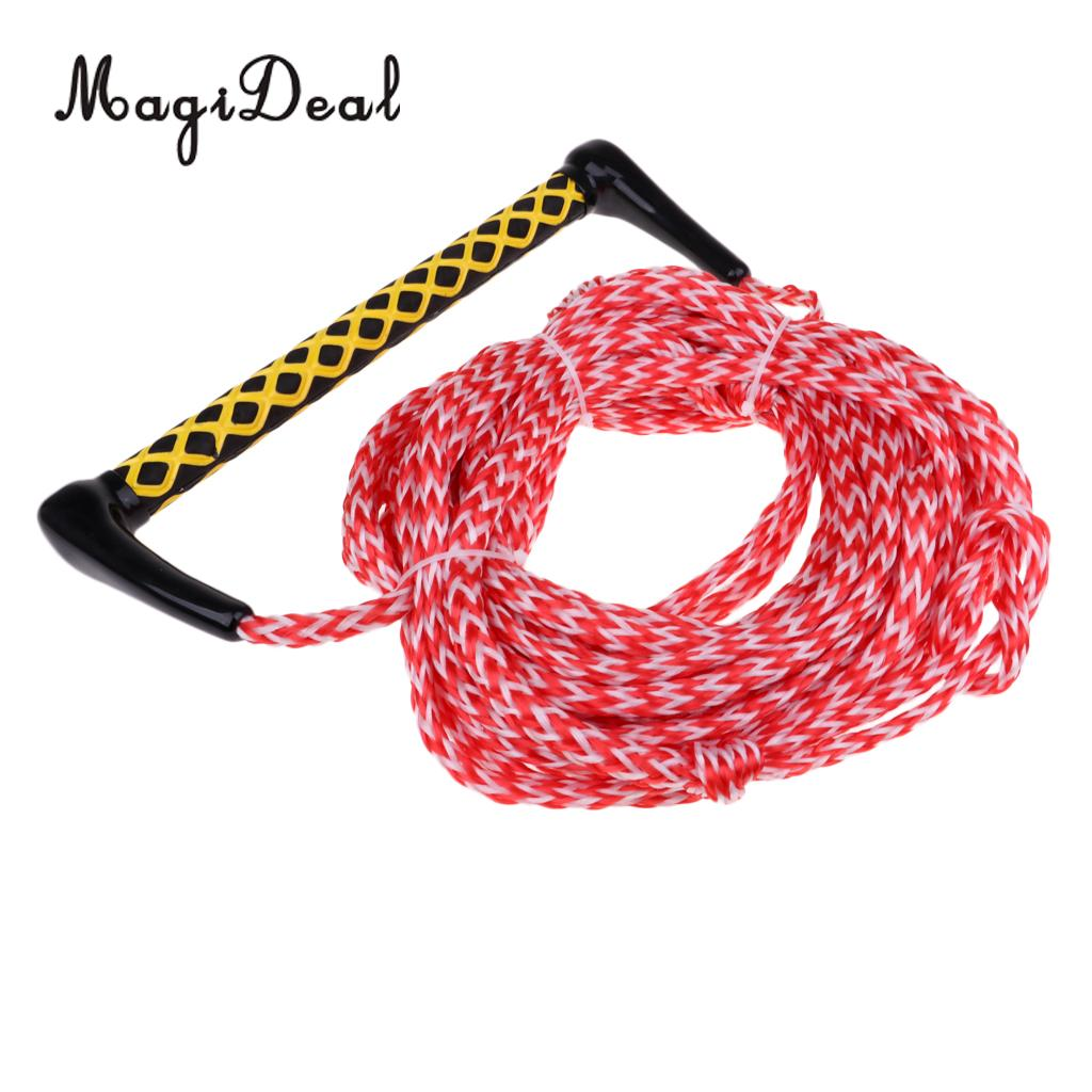 Surfing & Diving Provided Safety Surfing Acces 1000kg 23 Meters 10mm Water Ski Wakeboard Rope With Handle Grip For Leash Knee Boarding Wakeboard Leash Long Performance Life