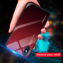 Gradient Tempered Glass phone case For iphone XR XS X 8 7 6 6S Plus Coque Capa Shell Cover shell