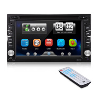 Double 2 DIN HD 6.2 Touch Screen Car DVD Player GPS Sat Nav Stereo Radio Multimedia Player Auto FM AM Support Remote Control