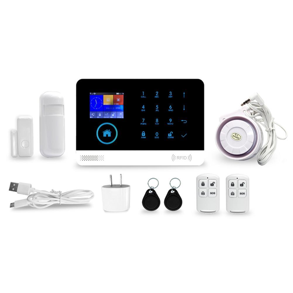 Security Alarm System GSM WIFI 2G Wireless Smart APP Remote Home Security Alarm System TFT Large Digital Display Screen Alarm