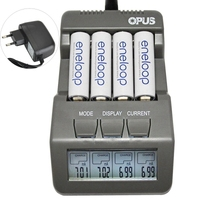 Opus BT C700 NiCd NiMh LCD Digital Intelligent AAA 14500 AA Battery Charger Updated From BM110 EU US Adapter BT C700