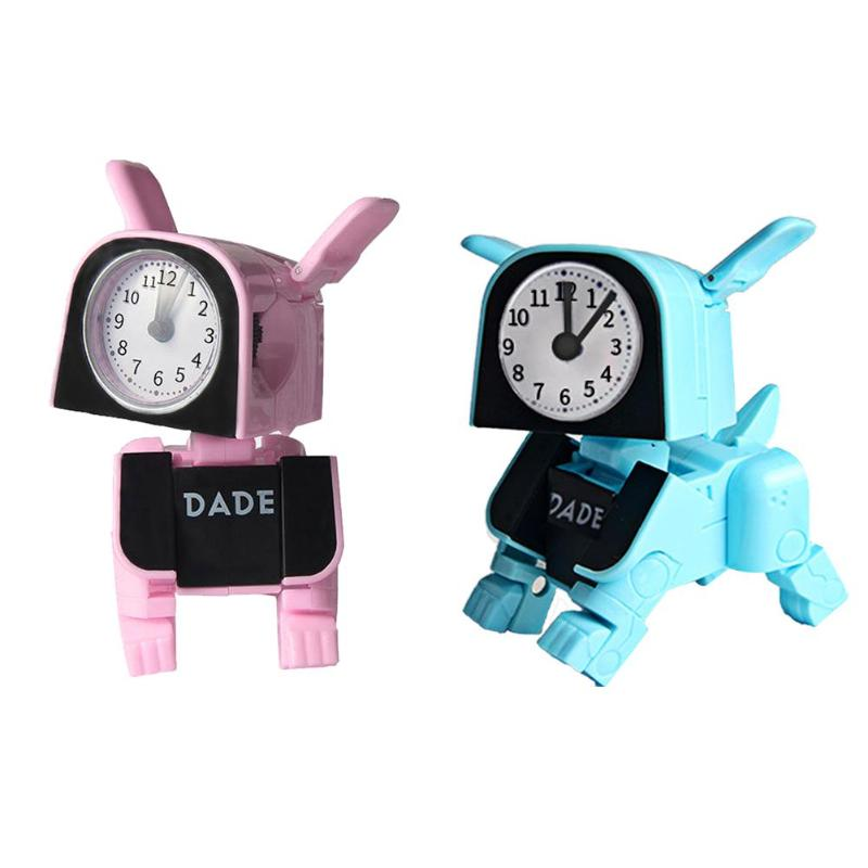 Children Toys Birthday-Gifts Electronic Deformation Multifunctional Cartoon Manual Dog-Alarm-Clock