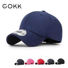 COKK Baseball Cap Men Snapback Hats For Men Fitted Closed Full Cap Women Gorras Bone Male Trucker Hat Casquette Elastic(China)