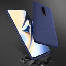 For Oneplus 7 Pro Case Soft Silicone Texture Carbon Fiber Slim Matte TPU Cover One Plus OnePlus 1+ Shockproof