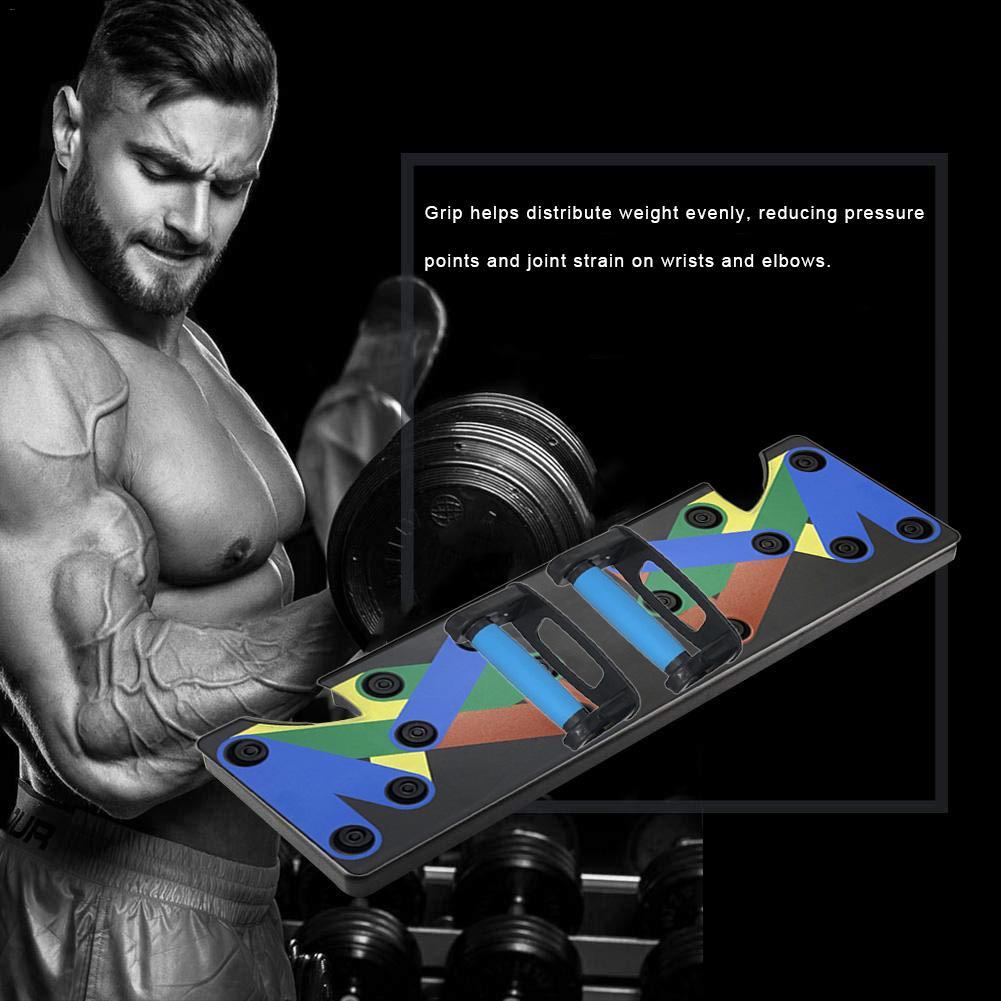 Push Up Rack Board système hommes femmes complet Fitness exercice d'entraînement Push-Up Stands musculation entraînement Gym exercice - 3