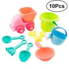 10 Pcs Creative Beach Toys Plastic Bathing Playing Sand Dredging Kids Beach Sandbox Toy Set Playing Toys for Children(China)