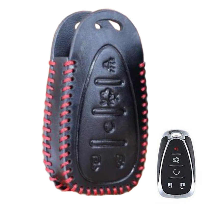 Clé de voiture clé étui pour Chevrolet étui en cuir boutons titulaire étui empreinte mode véritable cuir de vache