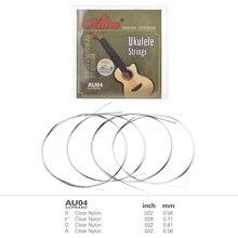 4 Pçs/set Soprano Ukulele Cordas Set Parte Substituição de Cordas de Nylon Cordas Ukulele Uke Ukelele Instrumento Acessórios
