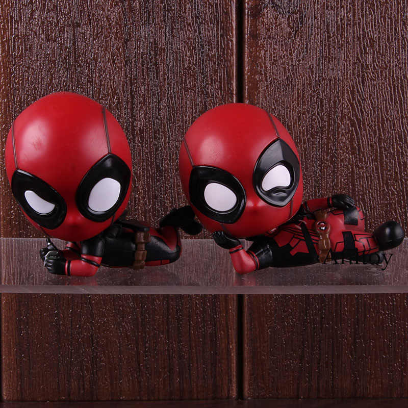 Versão Cosbaby Q Bobblehead Hot Toys Marvel Herói Deadpool Deadpool Action Figure Collectible Modelo Toy