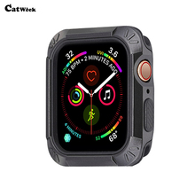 For Apple Watch 4 40MM 44MM Slim 2 in 1 Soft TPU PC Protector 360 Full Cover Case Iwatch Applewatch Shockproof Skin