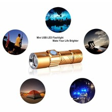 цена USB Rechargeable LED Flashlight Portable Mini Torch Waterproof 3 Modes Lanterna LED Pocket Flashlight Pen light for Camping