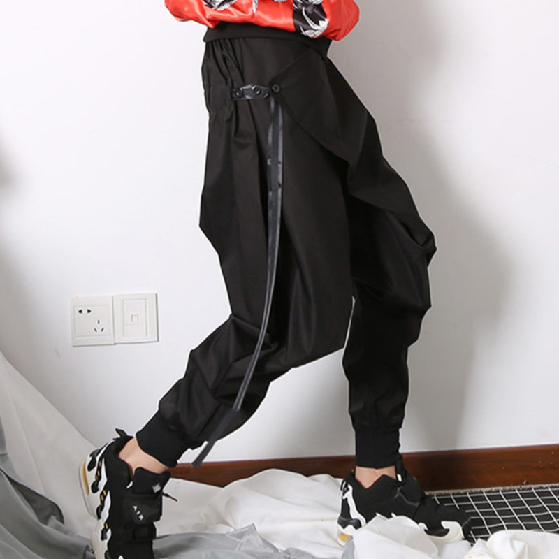 Clothing Ribbons Slim Ewq Hip Free Size Female Women New High Black Ua29901 Pants Waist 2018 Hop Leg Fashion Street vIwqxrpzv