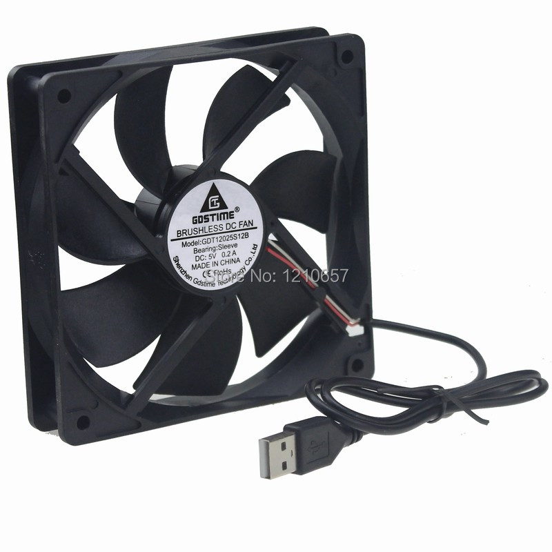 Купить с кэшбэком 2 Set Gdstime USB Fan 120mm Router Cooling Fan 5 V Silent Quiet for Roku Receiver TV Box with Screw and Fillter
